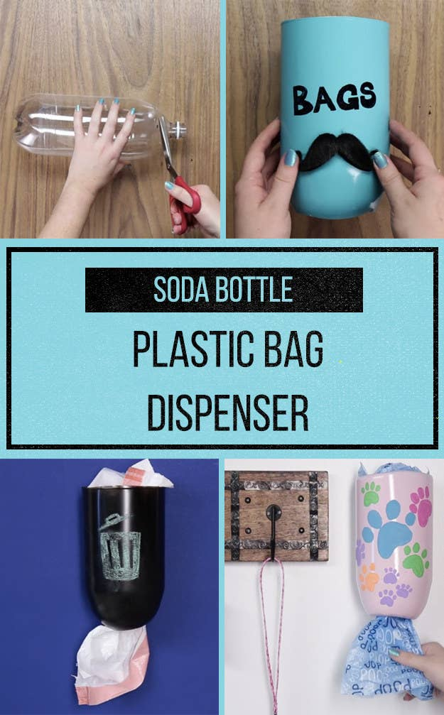 452ce020f5db This Genius DIY Disguises All Your Plastic Bags In An Upcycled Soda Bottle