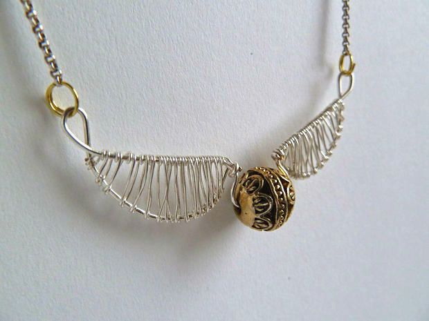 Twist some wire and a bead into a tiny Golden Snitch.