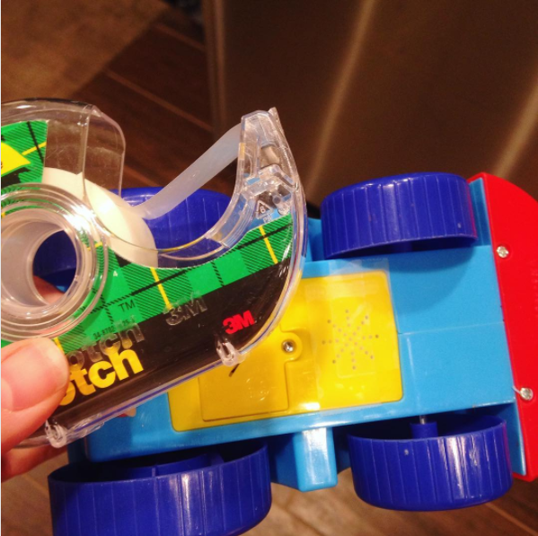 Place tape over the speakers on your kids' toys to lower the volume.