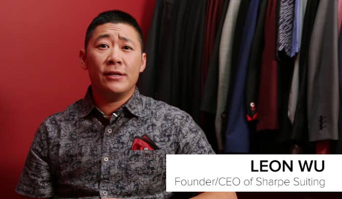 c37349c1 The founder of Sharpe Suiting, Leon Wu, explained that they make custom  suits for people,
