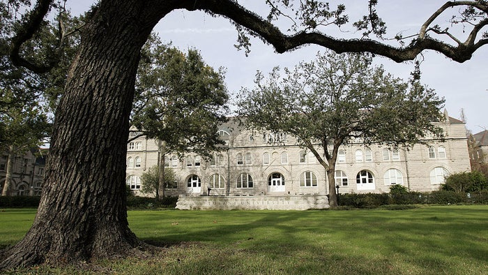 Tulane University in New Orleans.