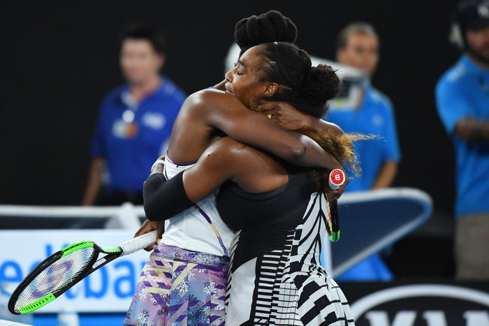 """She won 6-4 6-4 to claim her seventh Australian Open, in the process beating Steffi Graf's record of 22 Grand Slam wins, and also becoming the oldest female Grand Slam winner in the modern era at 35.""""There's no way I would be at 23 without her,"""" Serena said of Venus. """"There's no way I'd be at one without her. She's my inspiration."""""""