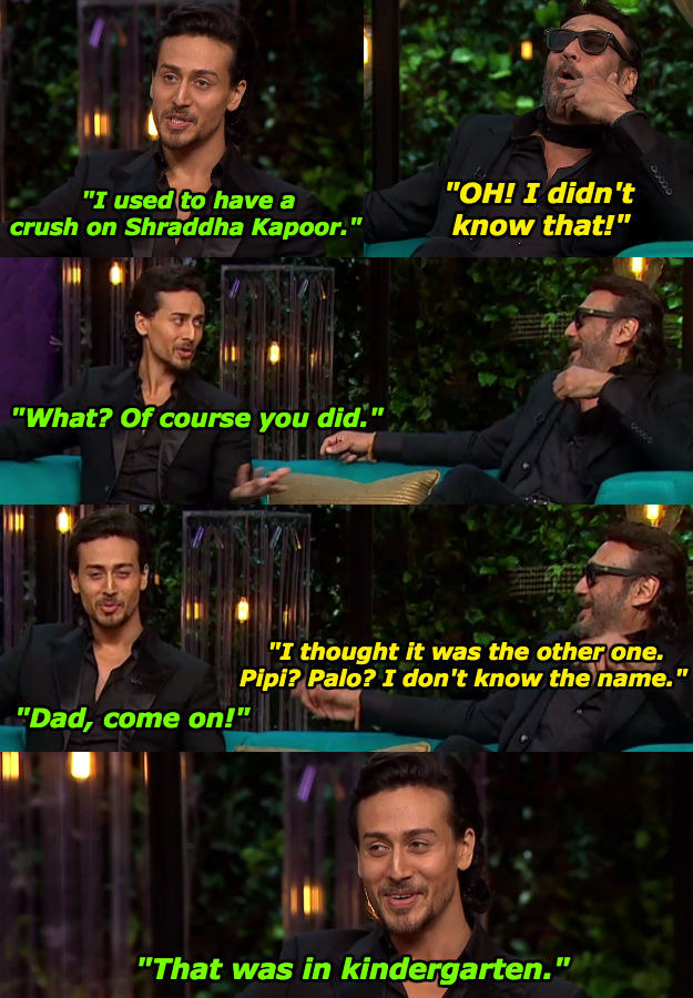 When he tried to embarrass his son a little.