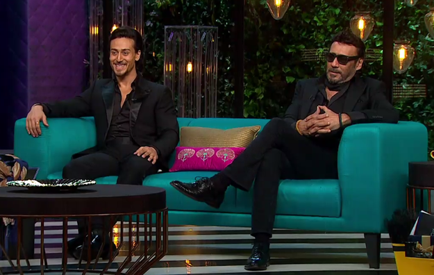 On tonight's episode of Koffee With Karan, father and son Jackie Shroff and Tiger Shroff graced the couch for the first time ever.