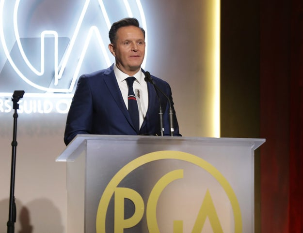 But the evening's unified mood took a turn when The Apprentice creator Mark Burnett was met with boos after winning an award for his show The Voice.