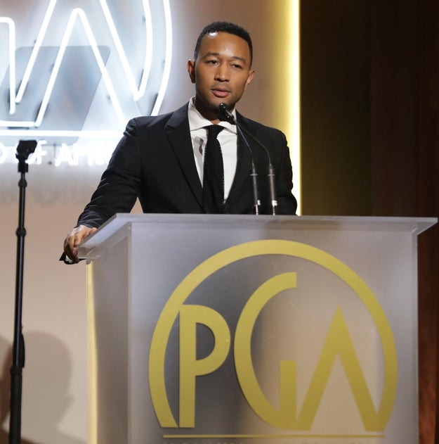 The Producers Guild Awards were held Saturday in Los Angeles amid national protests against President Trump's refugee ban.