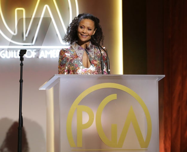 Thandie Newton and Colin Firth addressed the issue while presenting and accepting, respectively, Loving with the Stanley Kramer Award. The award honors films that help raise public awareness of important social issues.