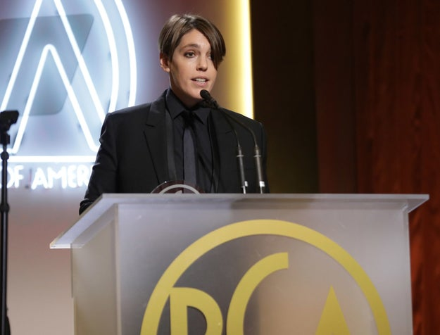 """20th Century Women producer Megan Ellison also used her platform to speak to the current climate. While accepting the Visionary Award, she told the audience, """"The scariest thing we can do now, or ever, is to shut up."""""""