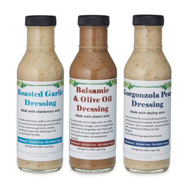 Dress up any salad with these wine-infused dressings.