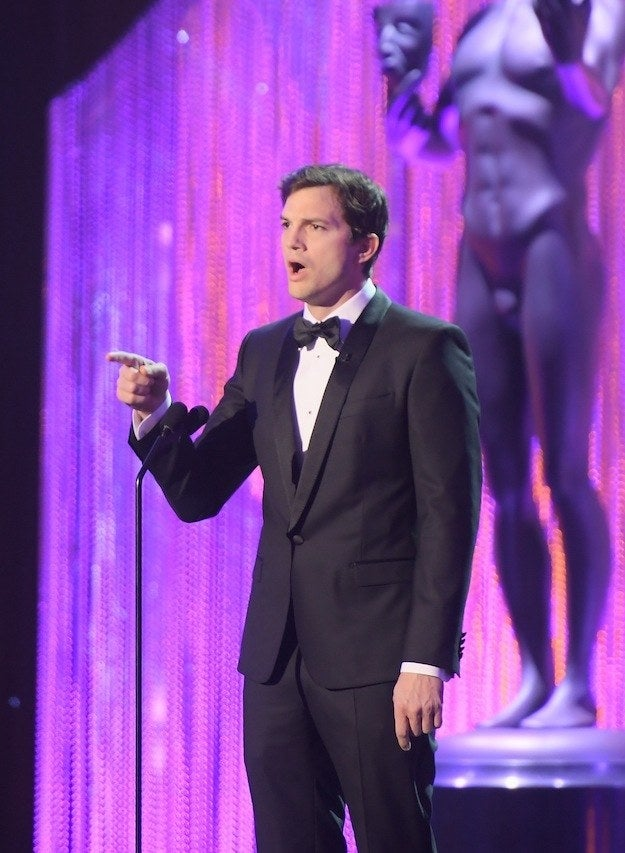 """Good evening, fellow SAG-AFTRA members and everyone at home — and everyone in airports that belong in my America,"" he said as the first presenter of the night. ""You are a part of the fabric of who we are, and we love you and we welcome you."""