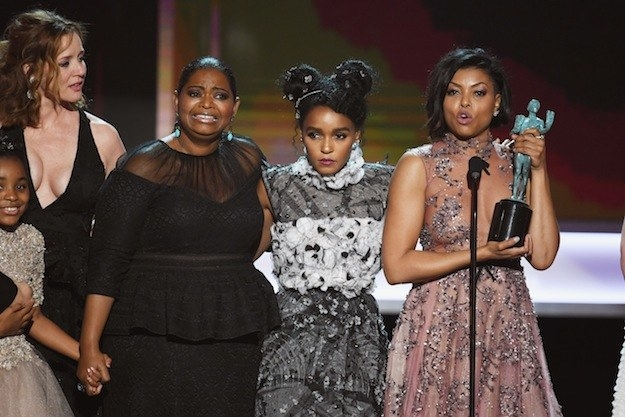 """Henson spoke on behalf of the rest of the cast and gave a powerful speech, saying, """"This film is about unity."""""""