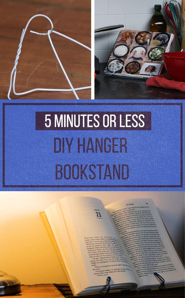 Spend exactly zero dollars building a bookstand out of a hanger malvernweather Images