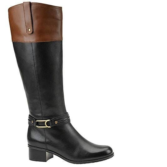 07d3289006c Buckle up for a glam ride with these leather riding boots that look waaaay  out of your budget.