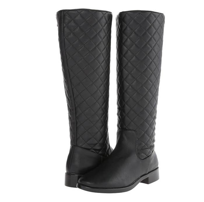 c9a1862e7d5 Rely on double-zipper technology that'll spare you two more inches in these  sophisticated quilted boots.