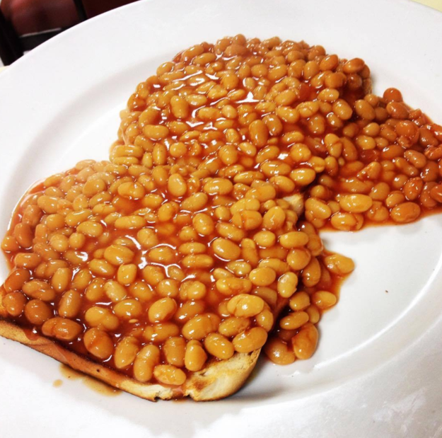 Eating beans on toast for breakfast, lunch, and dinner.
