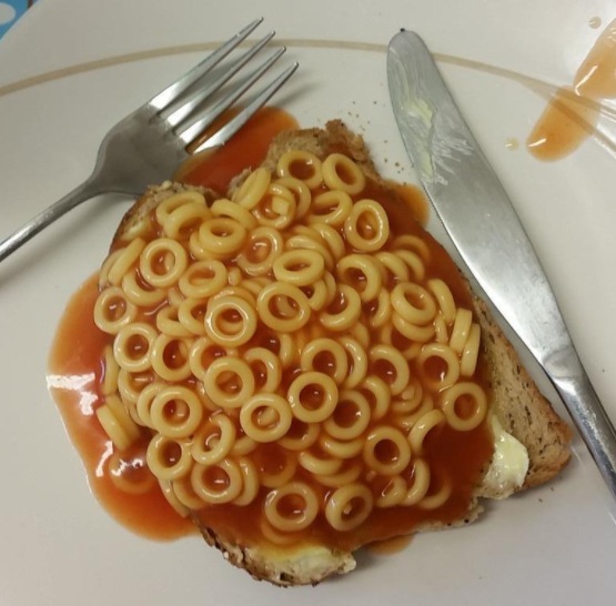 To British people, spaghetti hoops on toast is the ultimate sick day lunch. To everyone else, it's just a soggy mess.