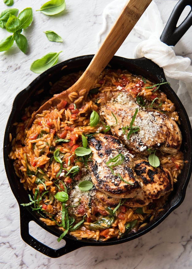 One-Pot Italian Chicken and Orzo