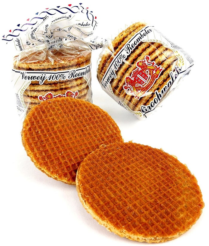 To tide you over until you actually go to Amsterdam and get your hands on some warm, fresh stroopwafels.Get four 10.6 oz packages for $25.99.