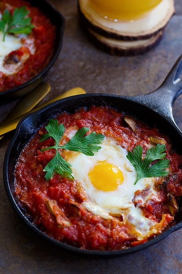 Baked Eggs with Sausage and Mushroom