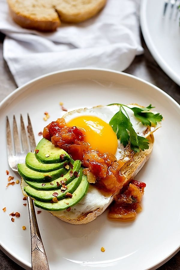 Sweet and Spicy Breakfast Toast