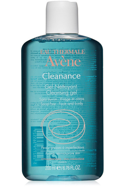 Eau Thermale Avène Cleanance Cleansing Gel, to get your face and body clean without using soap.