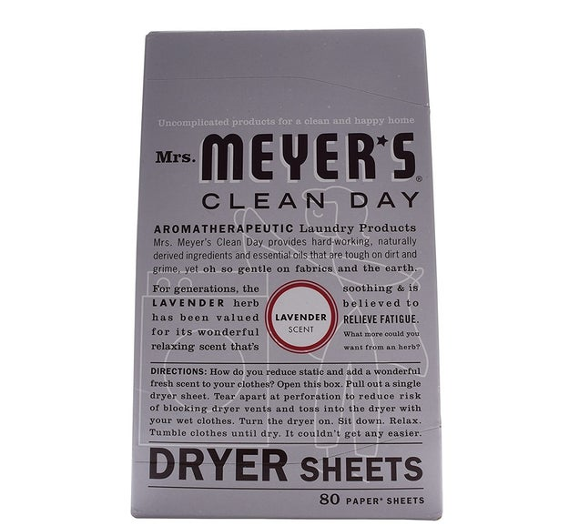 Keep your baseboards dust-free by reusing dryer sheets.