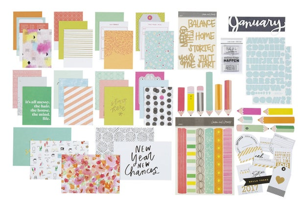 If you've resolved to make memories: Studio Calico Documenter Scrapbooking Kit.