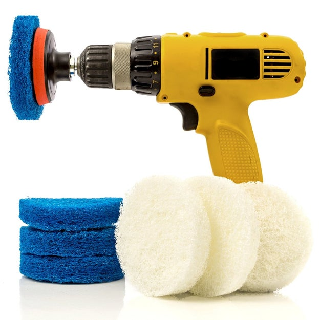 Use the power of your tools with scrubber attachments.