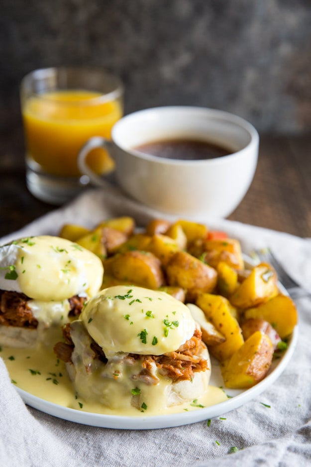 Pulled Pork Eggs Benedict
