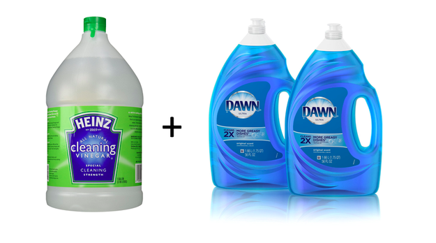 Use vinegar and Dawn to make the best shower and tub cleaner you've ever used.