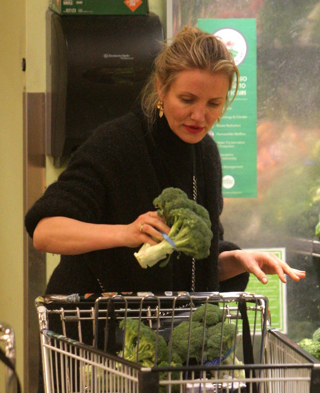 That's right, apparently Cameron Diaz loves broccoli.