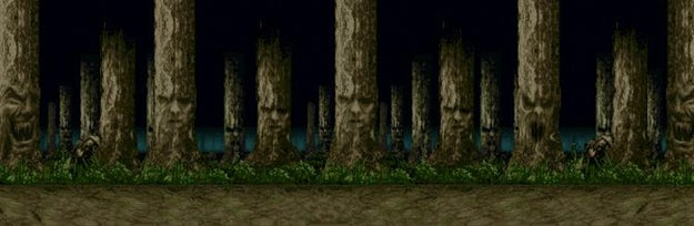 The Living Forest level on Mortal Kombat II...