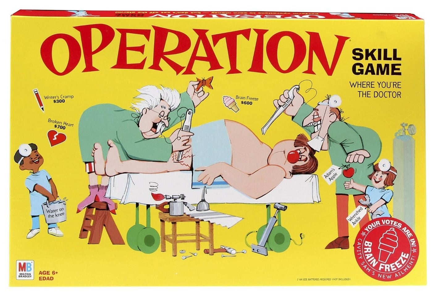 A game of Operation, which is nearly impossible to play whether sober or intoxicated.