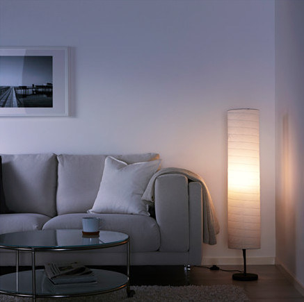 A lantern-like floor lamp that emits a gentle glow for late night Tumblr-ing.