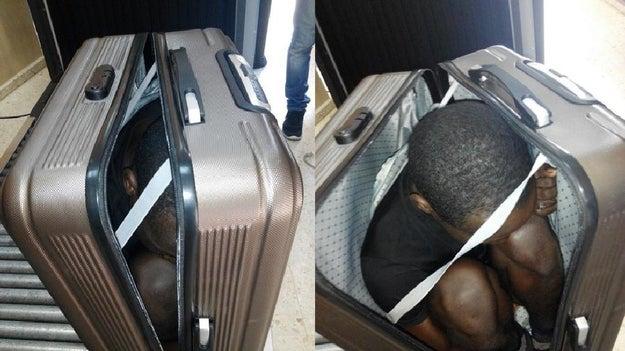 Guardas de fronteira na Espanha detiveram uma marroquina de 22 anos que teria, supostamente, tentado trazer um homem para dentro do país em uma mala.
