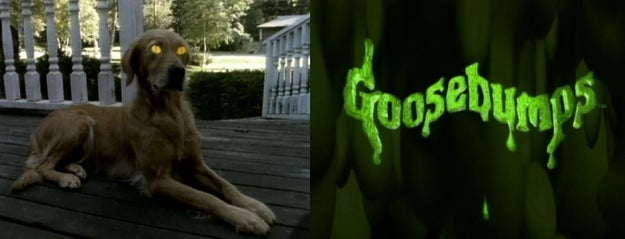 The Goosebumps opening credits...
