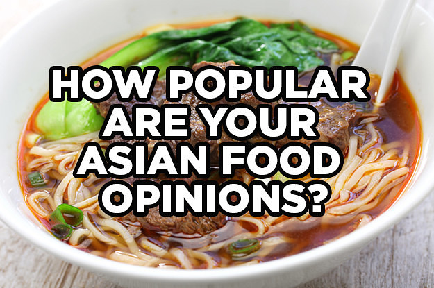 How Popular Are Your Asian Food Opinions?