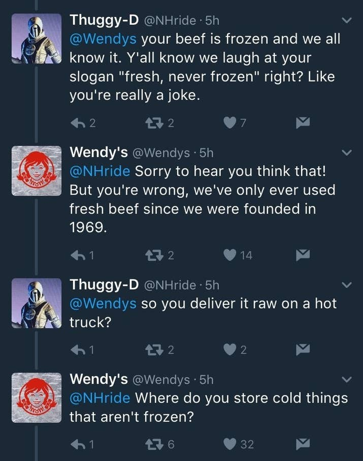 Wendys Owned A Twitter Troll So Hard They Deactivated Their Account - 24 hilarious comebacks wendys twitter account