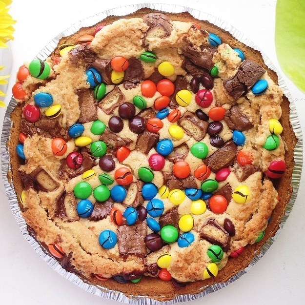 Candy Bar Cookie Pie (Basically, a Gigantic Cookie)