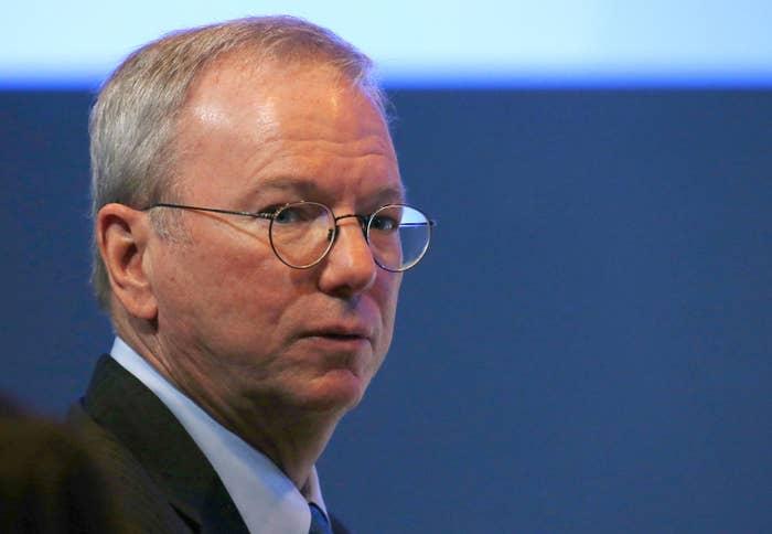 Eric Schmidt, former CEO of Google