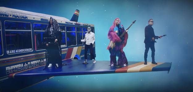 And of course, there's the band itself that's dressed in very odd costumes and garments.