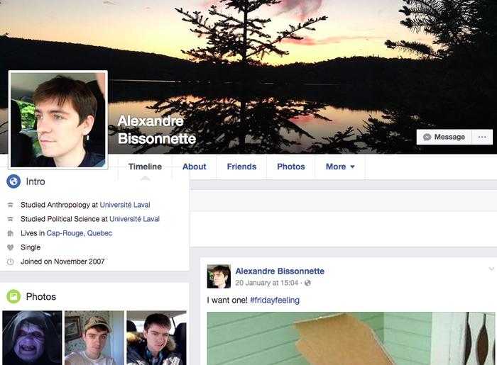 Bissonnette's Facebook page.