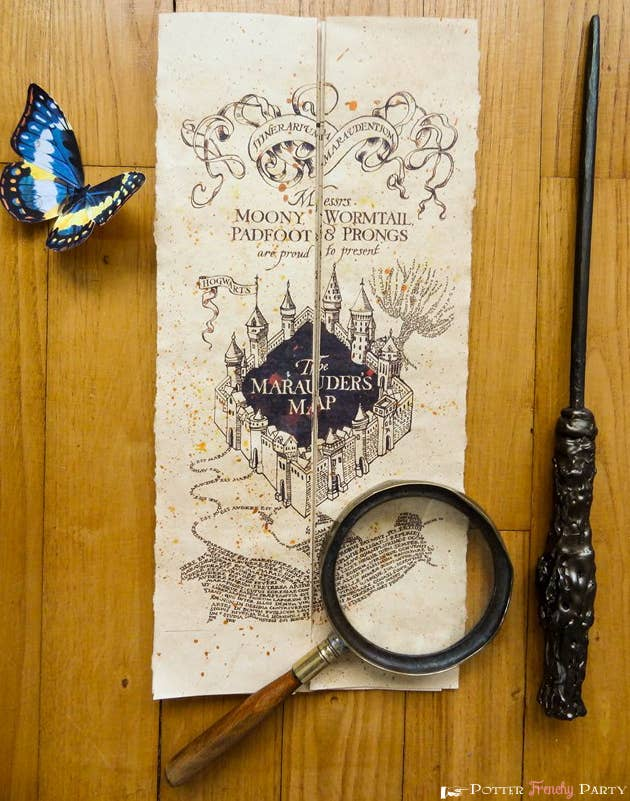 27 harry potter diys that are basically magic 12 print out a full size marauders map and carry it everywhere solutioingenieria Image collections