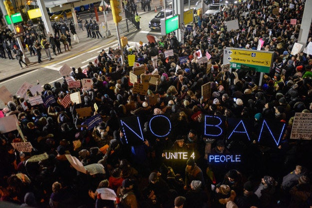 Protesters at John F. Kennedy International Airport in New York City. Here are some of the most powerful images from airport protests around the US.