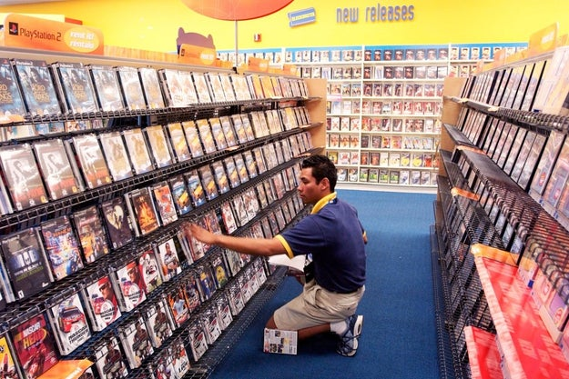 Going to the video store when you felt like watching something.