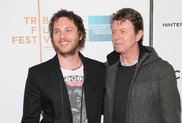 Duncan Jones y David Bowie.