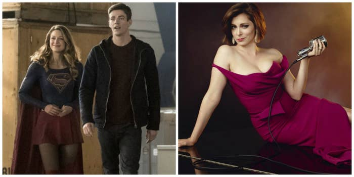 Supergirl's Melissa Benoist, The Flash's Grant Gustin, and Crazy Ex-Girlfriend's Rachel Bloom.