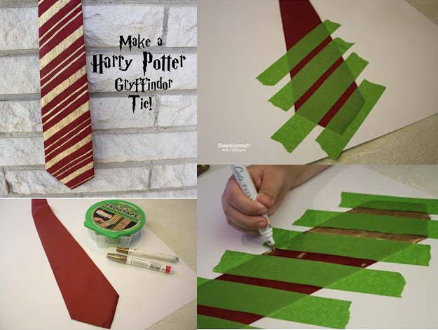 27 harry potter diys that are basically magic attend your next costume fling as a secret wizard by making this dollar store harry potter tie solutioingenieria Image collections