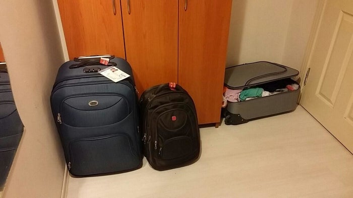 Arash would leave Turkey with these baggages to the US to start a new life.