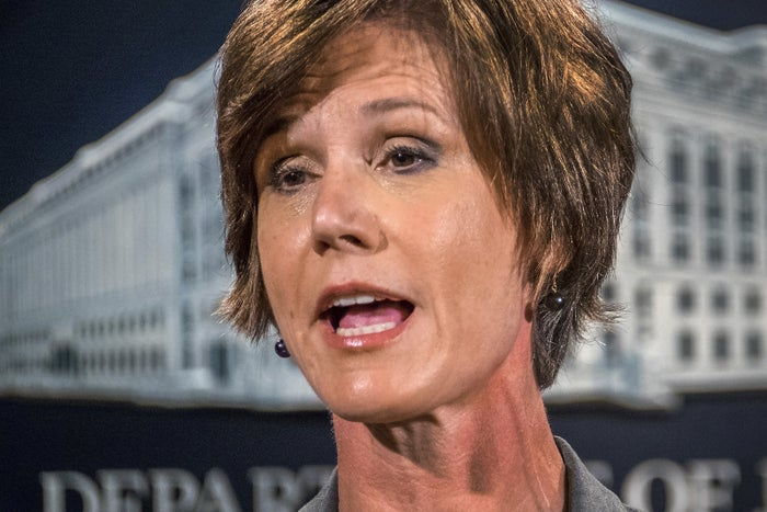 """""""At present, I am not convinced that the defense of the executive order is consistent with these responsibilities, nor am I convinced that the executive order is lawful,"""" Yates wrote in a letter to the department's lawyers.Hours later, White House press secretary Sean Spicer tweeted that Yates had been dismissed. The White House then announced that Dana Boente, US attorney for the Eastern District of Virginia since 2015, would serve as acting attorney general."""